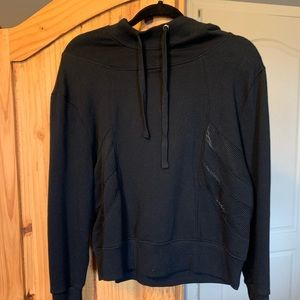 Forever 21 cropped hoodie with mesh insets NWT